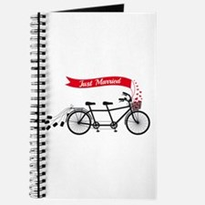 Just married, wedding tandem bicycle Journal