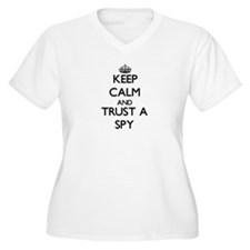 Keep Calm and Trust a Spy Plus Size T-Shirt