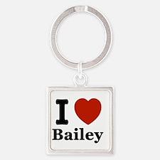 I love Bailey Square Keychain