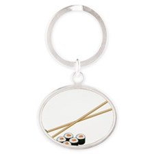 Sushi Loves ME Oval Keychain