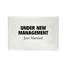 Under New Management. Just Married. Rectangle Magn