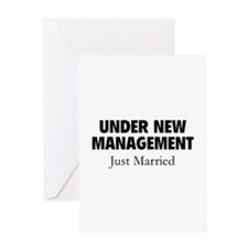 Under New Management. Just Married. Greeting Card