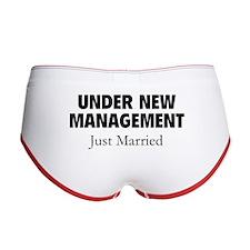 Under New Management. Just Married. Women's Boy Br