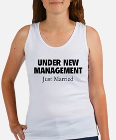 Under New Management. Just Married. Women's Tank T
