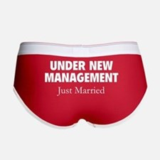 Under New Management. Just Married. Women's Boy Br