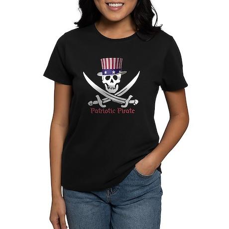 Patriotic Pirate (S) Women's Dark T-Shirt