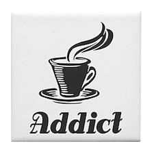 Coffee Addict Tile Coaster