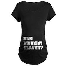 End Modern Slavery Dark Maternity T-Shirt