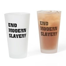End Modern Slavery Drinking Glass