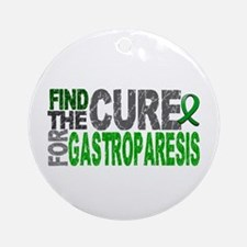 Gastroparesis Find the Cure Ornament (Round)