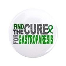 """Gastroparesis Find the Cure 3.5"""" Button (100 pack)"""
