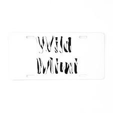 Wild Mimi Aluminum License Plate