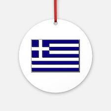 Flag of Greece NO Txt Ornament (Round)