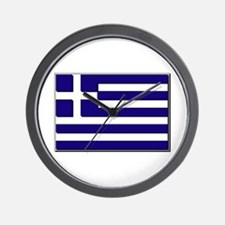 Flag of Greece NO Txt Wall Clock