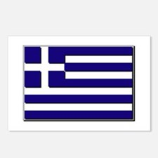 Flag of Greece NO Txt Postcards (Package of 8)