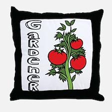 Tomato Gardener Throw Pillow