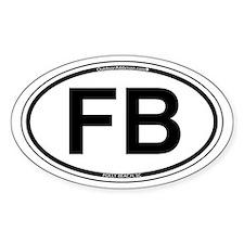 FB- Folly Beach Oval Decal