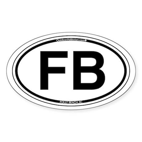 FB- Folly Beach Oval Sticker