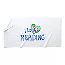 I Love Reading Beach Towel