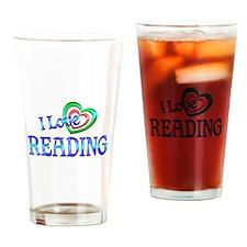 I Love Reading Drinking Glass
