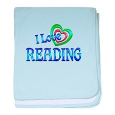 I Love Reading baby blanket