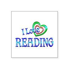 """I Love Reading Square Sticker 3"""" x 3"""""""