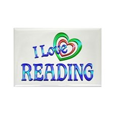 I Love Reading Rectangle Magnet