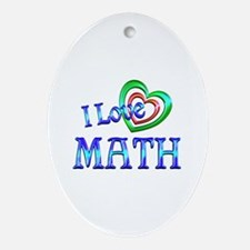 I Love Math Ornament (Oval)