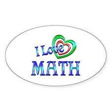 I Love Math Decal