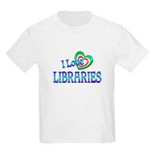 I Love Libraries T-Shirt