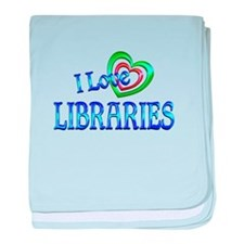 I Love Libraries baby blanket