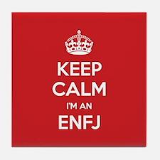 Keep Calm Im An ENFJ Tile Coaster
