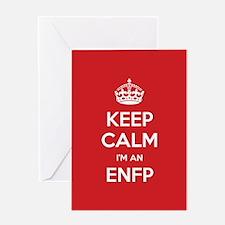 Keep Calm Im An ENFP Greeting Cards
