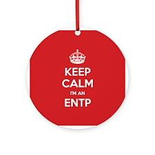 Keep Calm Im An ENTP Ornament (Round)