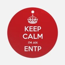 Keep Calm Im An ENTP Ornament (Round)