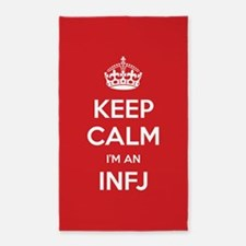 Keep Calm Im An INFJ 3'x5' Area Rug