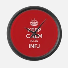 Keep Calm Im An INFJ Large Wall Clock
