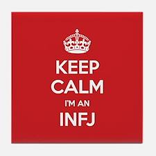 Keep Calm Im An INFJ Tile Coaster