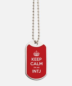 Keep Calm Im An INTJ Dog Tags