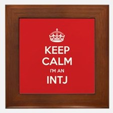 Keep Calm Im An INTJ Framed Tile