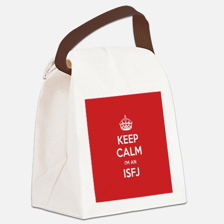 Keep Calm Im An ISFJ Canvas Lunch Bag