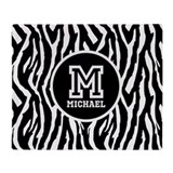 Zebra Fleece Blankets