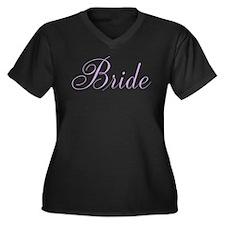 Elegant Scri Women's Plus Size V-Neck Dark T-Shirt