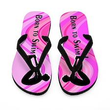 Powerful Swimmer Flip Flops