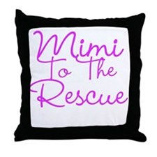 Mimi To The Rescue Throw Pillow