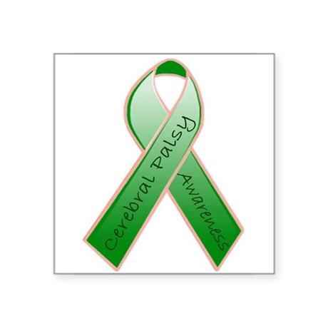 Cerebral Palsy Ribbon Rectangle Sticker