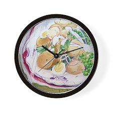 Potato & Quail Egg Salad Wall Clock