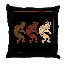 Kokopelli Design Throw Pillow