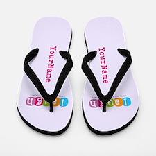 Colorful Cute Custom Name Flip Flops
