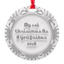 1St Christmas As A Godfather 2016 Ornament